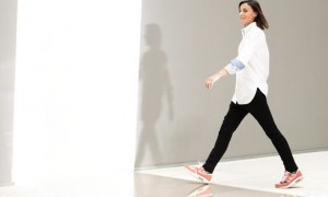 Pheobe Philo on the catwalk in trainers