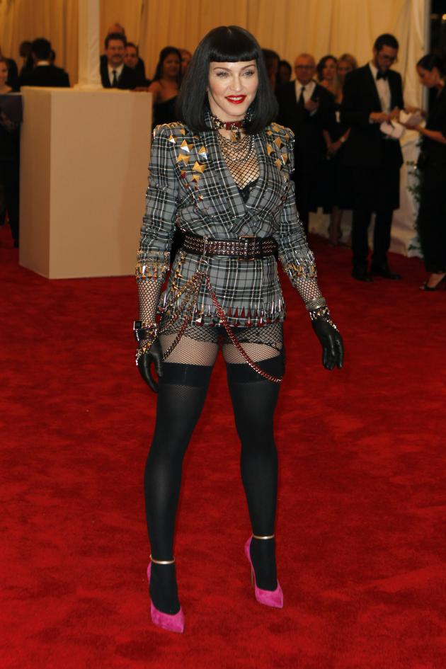Madonna met gala 2013 punk