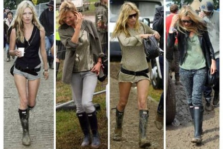 WIN! Hunter boots giveaway // Why Kate Moss is Queen of Festival Fashion #BEAHEADLINER
