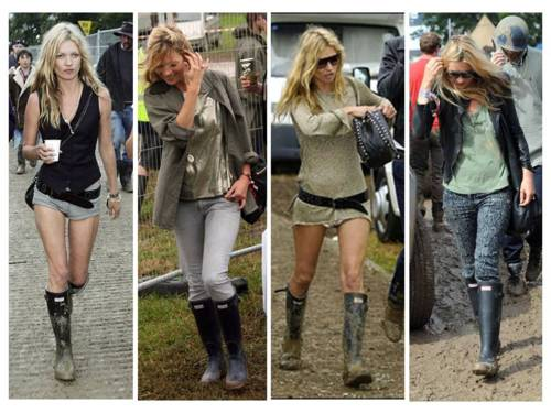 Kate Moss Hunter boots