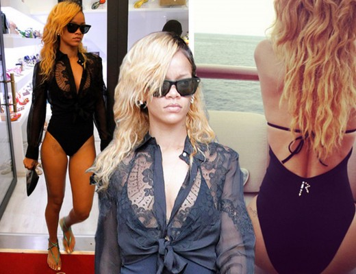 Rihanna swimsuit Monaco montage