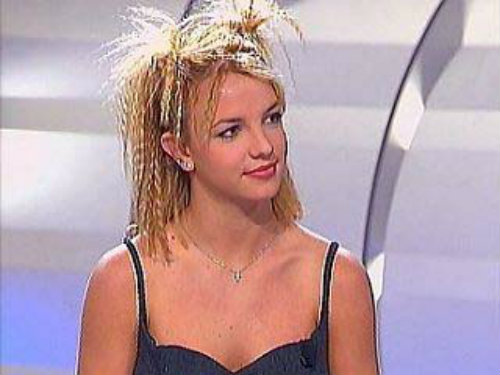 Britney Spears with crimped hair in the 90s - Britney Spears images - leblow.co.uk