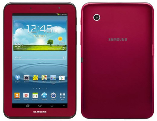 Samsung Galaxy Tab 2 7.0 red review - leblow.co.uk