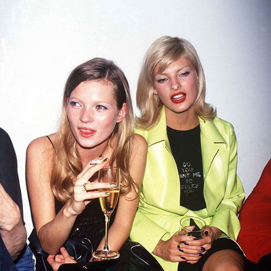 kate moss and linda evangelista party 90s - supermodels of the 1990s - pictures - leblow.co.uk