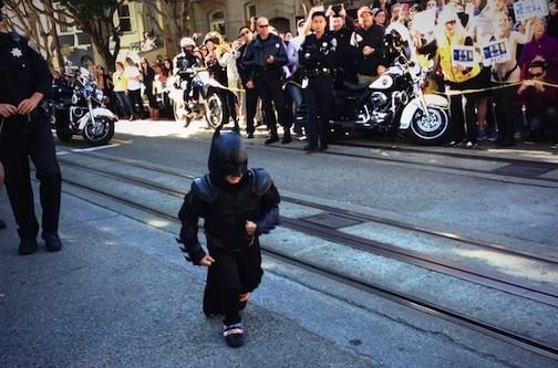 Batkid running