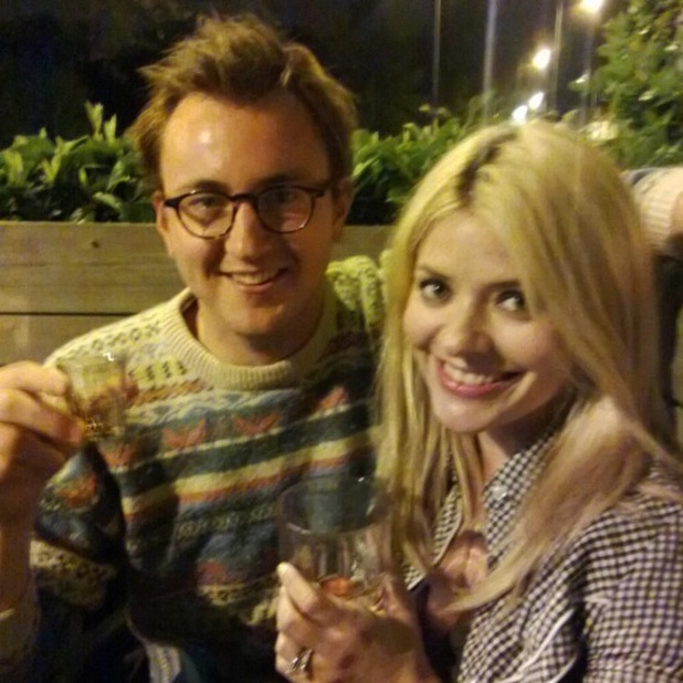 Holly Willoughby and Francis from made In Chelsea friends