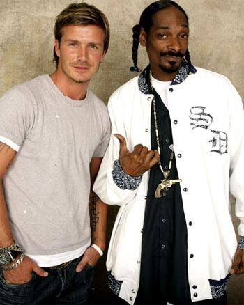 David Beckham and Snoop Dogg friends