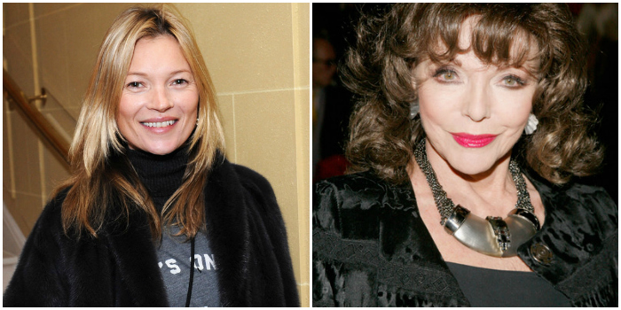 kate Moss and Joan Collins - leblow.co.uk