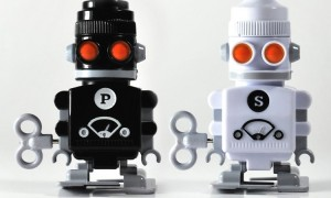 Salt and Pepper Robot Pots