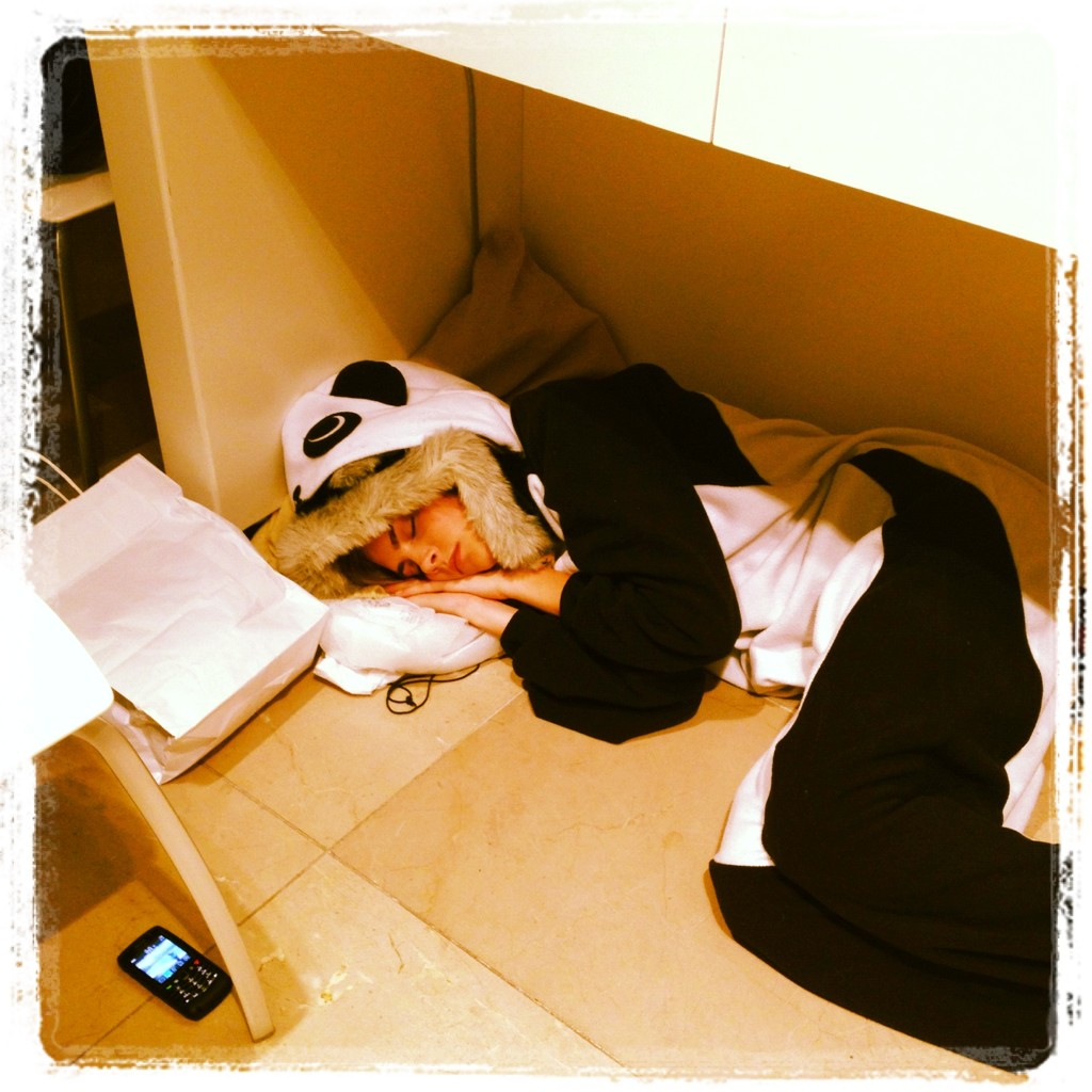 cara delevingne panda onesie