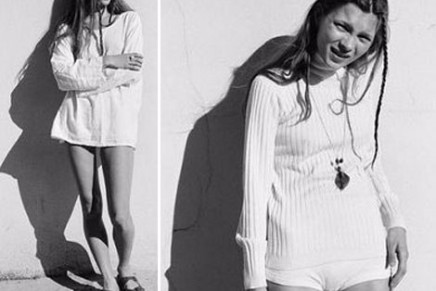 Kate Moss promotes new Topshop collection for 2014, discusses her bow legs