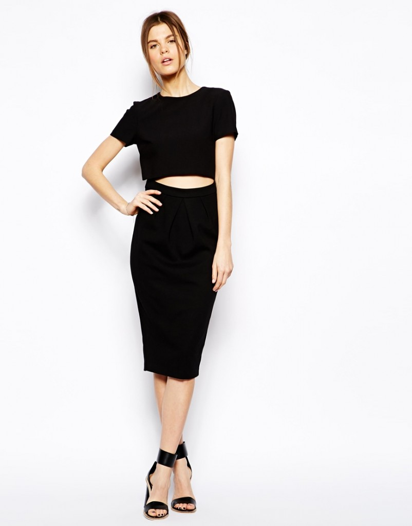 asos crop top dress