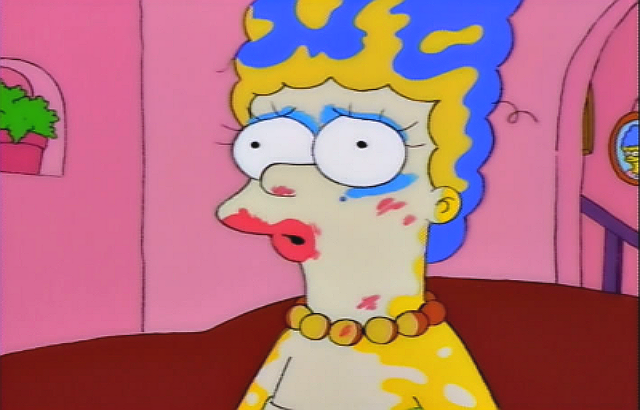 marge simpson make-up shotgun