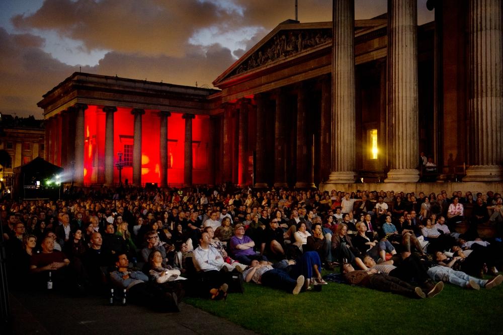 British Museum open air cinema