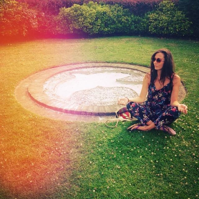 Natalie Wall practising yoga