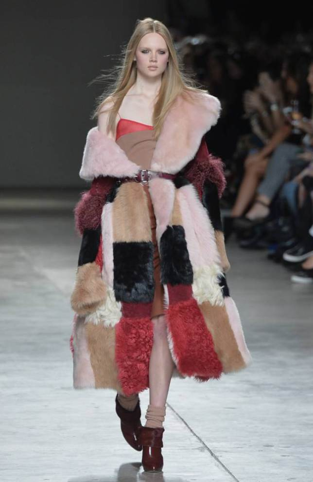Faux fur at Topshop Unique AW14