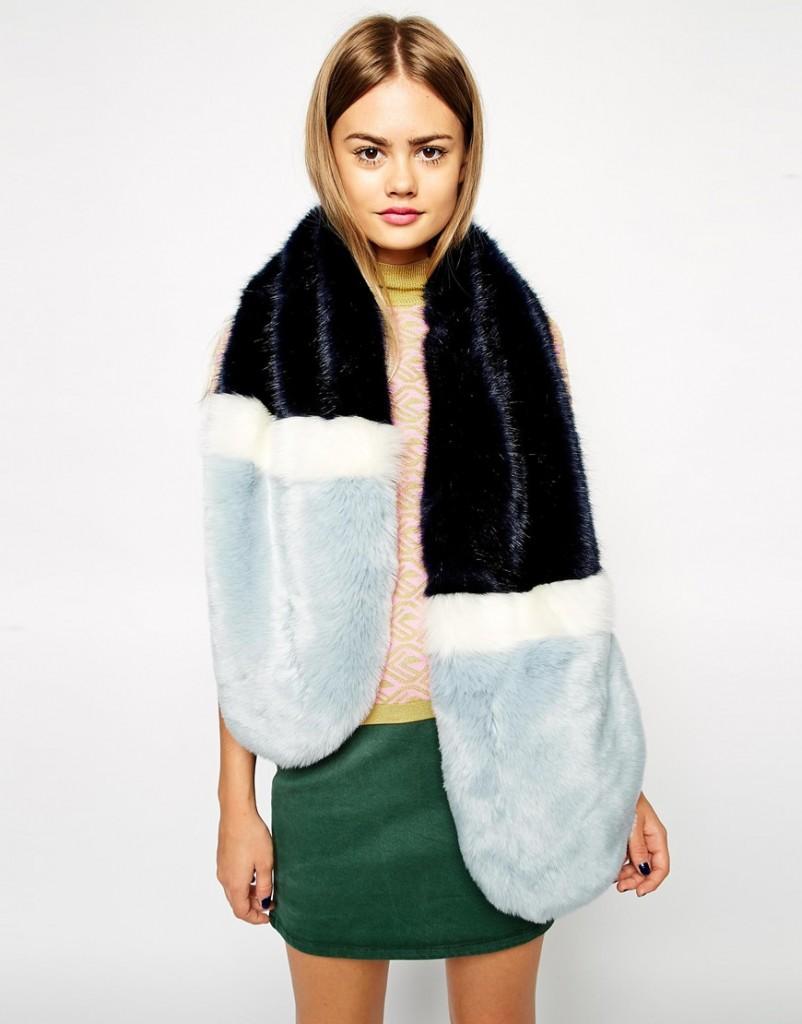 ados faux fur scarf