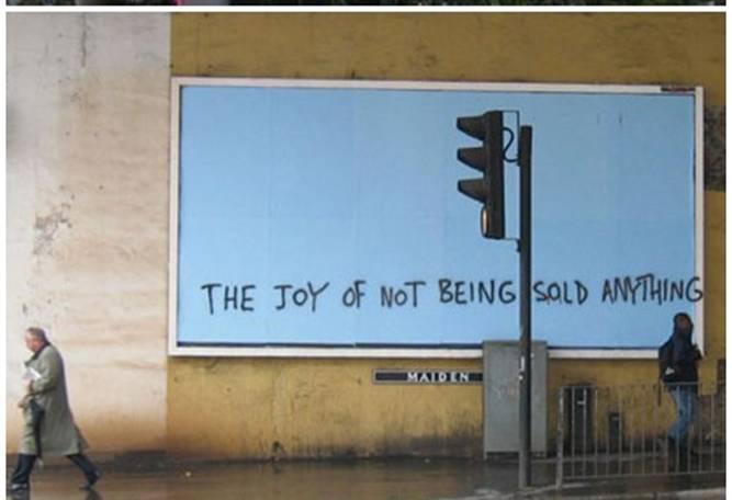 anti consumerism poster