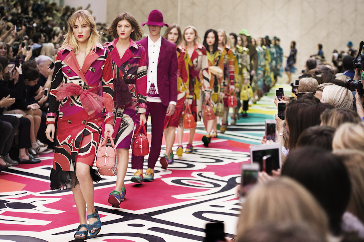 Burberry SS15 show finale