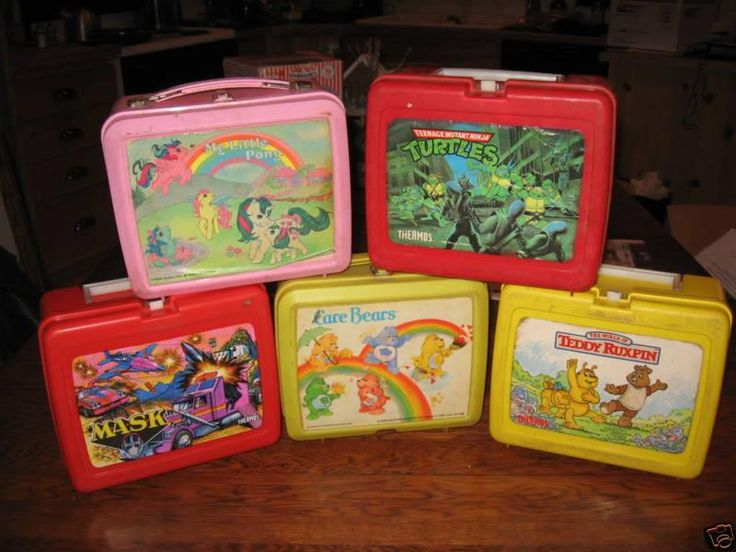 plastic school lunchbox 80s