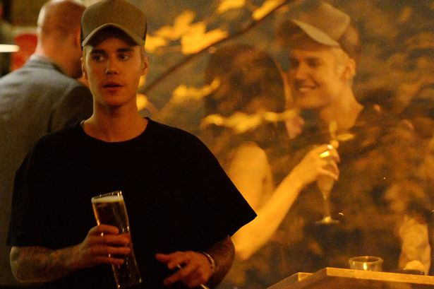 Justin Bieber pint London pub