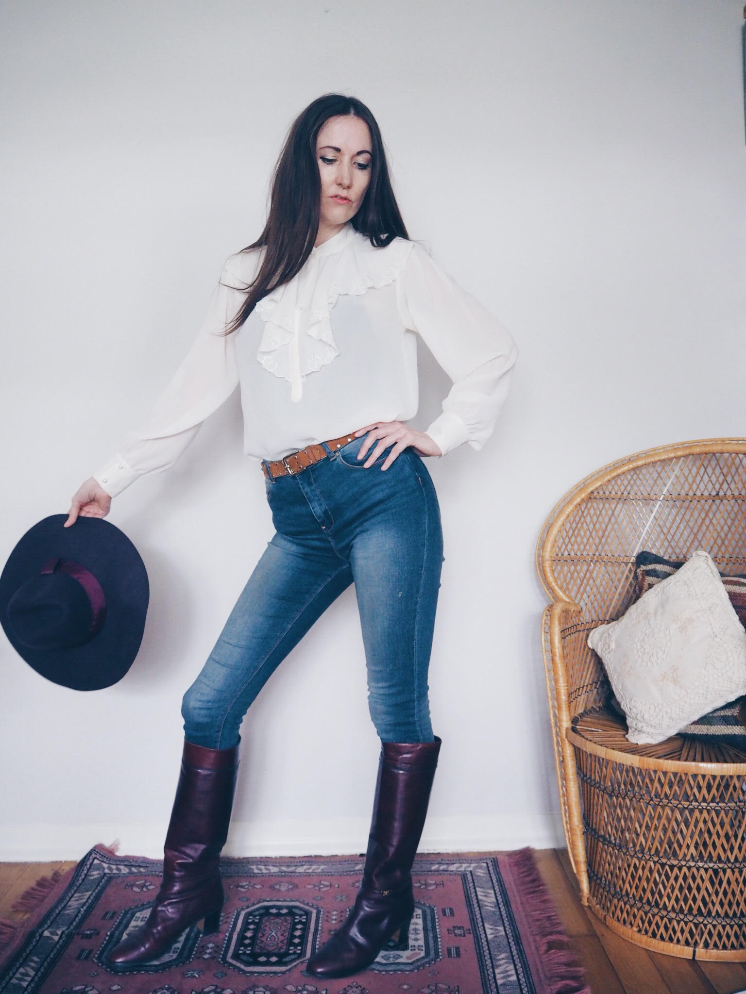 Natalie Wall frill shirt vintage fashion Le Blow