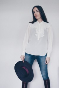 Natalie Wall frill shirt vintage fashion Le Blow