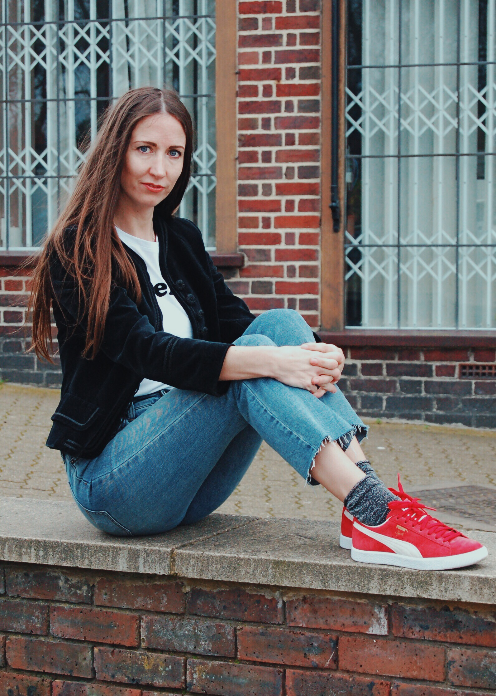 Natalie Wall in Puma Basket trainers