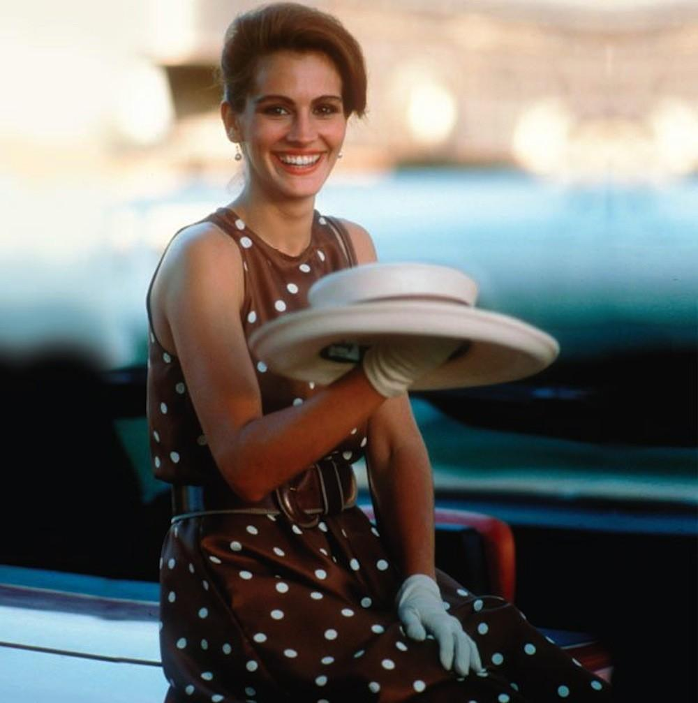 Julia Roberts dot dress Pretty Woman