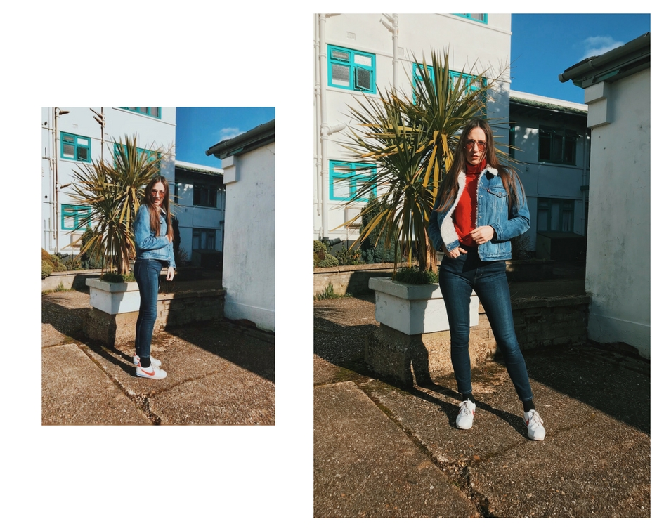 Natalie Wall double denim
