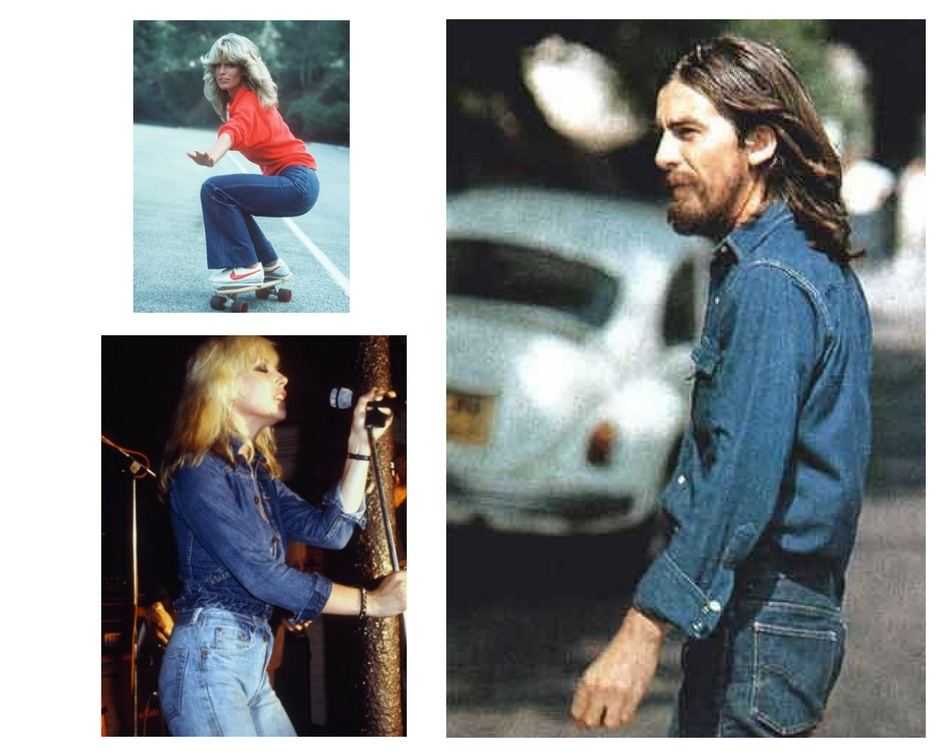 70s double denim fashion inspiration