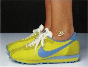 nike gold anklet