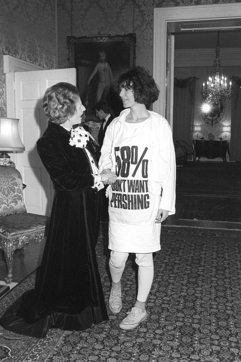 Katharine Hamnett meets Margaret Thatcher