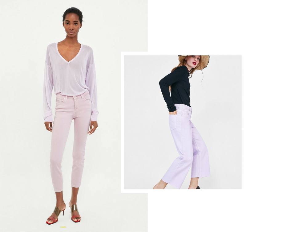 lilac jeans trend ss18