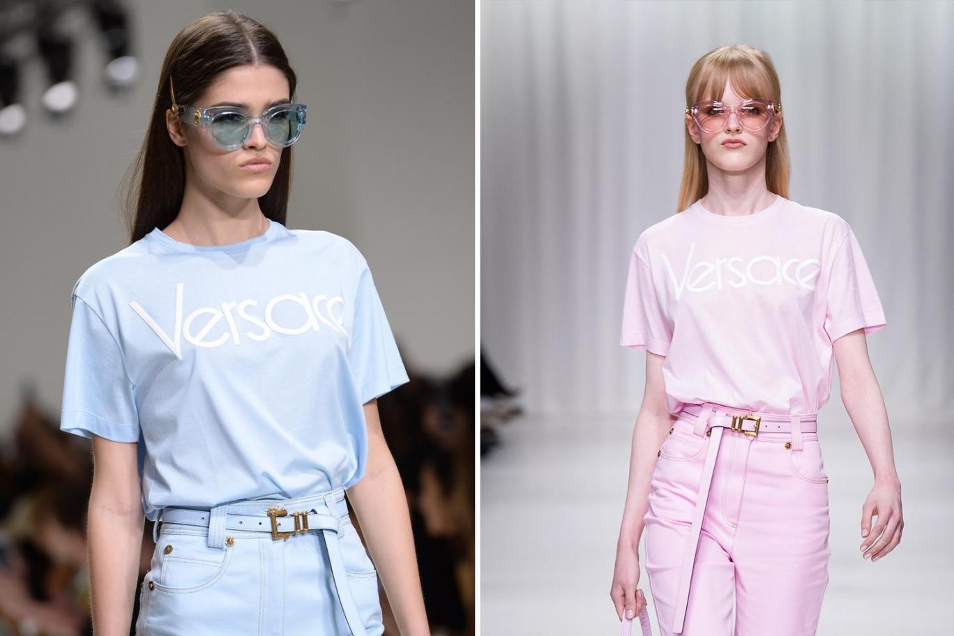 Versace slogan T shirt SS18