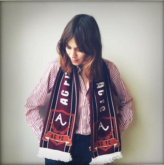 Alexa Chung ACFC football scarf